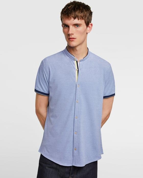 camisa de piqué com linhas vivas; zara; 19,95